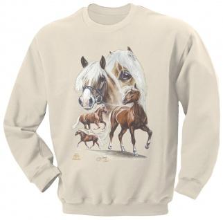 Sweatshirt mit Pferdemotiv - Haflinger-Nilson - 09044 creme ©Kollektion Bötzel - Gr. S