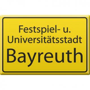 Küchenmagnet - Bayreuth - Gr. ca. 8 x 5, 5 cm - 38790 - Magnet Kühlschrankmagnet