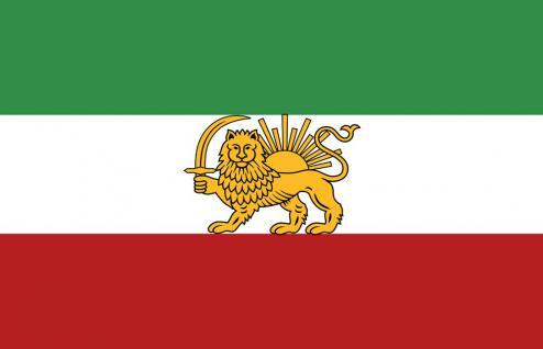 Länderfahne Stockländerfahne - Iran - Gr. ca. 40x30cm - 77067 - Schwenkfahne Flagge