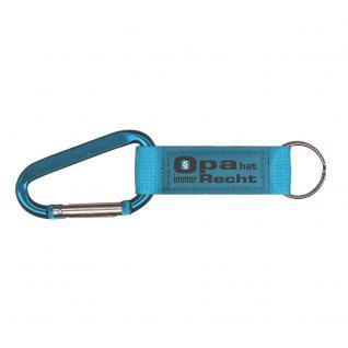 Karabiner-Schlüsselanhänger mit Druck - Opa hat immer Recht - 13441 - Gr. ca. 16 x 2cm in 2 Farben