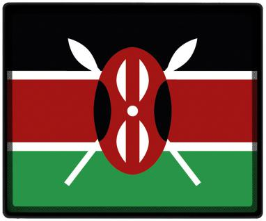 Mousepad Mauspad mit Motiv - Kenia Fahne Fußball Fußballschuhe - 82081 - Gr. ca. 24 x 20 cm