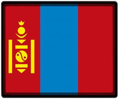 Mousepad Mauspad mit Motiv - Mongolei Fahne - 82111 - Gr. ca. 24 x 20 cm
