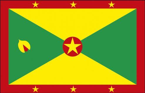 Autoscheibenfahne - Grenada - Gr. ca. 40x30cm - 78055 - Flagge mit Klemmstab - Autoländerfahne