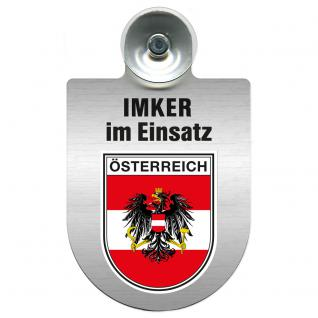 Einsatzschild mit Saugnapf Imker im Einsatz 309382 Region Österreich