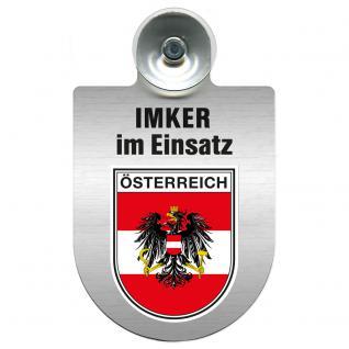 Einsatzschild Windschutzscheibe incl. Saugnapf - Imker im Einsatz - 309382-0-20 - Region Österreich
