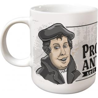 Tasse Kaffeebecher mit Print Martin Luther Protest Ant 1517 57542