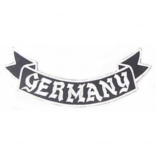 Rückenaufnäher - Germany - 08510 - Gr. ca. 28 x 7 cm - Patches Stick Applikation