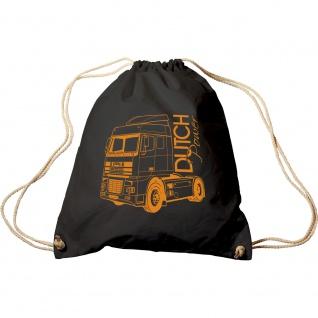 Trend-Bag mit Aufdruck - LKW Trucker Dutch Power - 65118 - Turnbeutel Sporttasche Rucksack