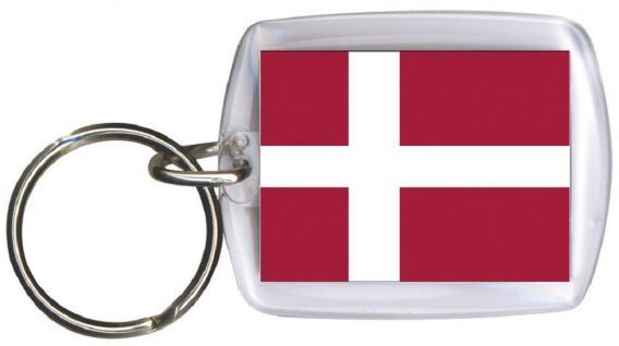 Schlüsselanhänger - DÄNEMARK - Gr. ca. 4x5cm - 81039 - WM Länder