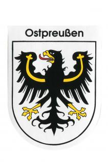 Wappenaufkleber - Ostpreußen - 301610 - Gr. ca. 6, 5 x 8, 0 cm