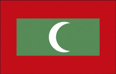 Stockländerfahne - Malediven - Gr. ca. 40x30cm - 77100 - Flagge Länderfahne