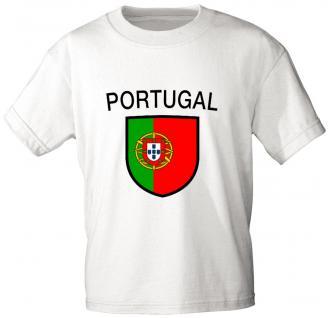 Kinder Marken T- Shirt mit Aufdruck Portugal K76133
