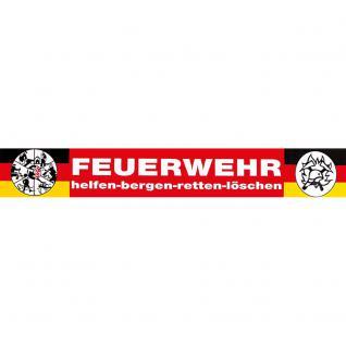 PVC-Aufkleber - Feuerwehr - helfen-bergen-retten-löschen - Gr. ca. 40 x 6 cm - 307785/1 - Vorschau