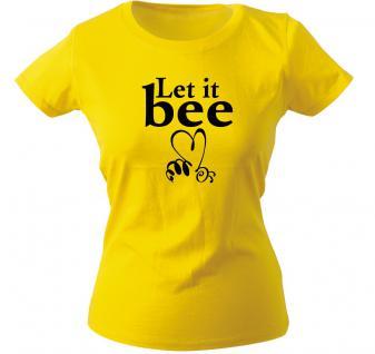 Girly-Shirt mit Print ? Let it bee - 10470 gelb - XS-2XL
