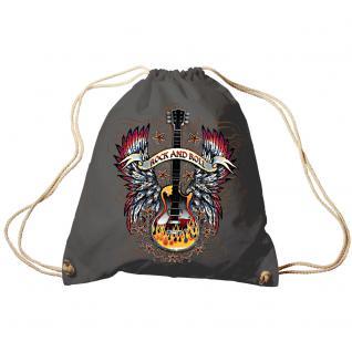 Trend-Bag Turnbeutel Sporttasche Rucksack mit Print - Rock Guitar - TB65305 anthrazitgrau
