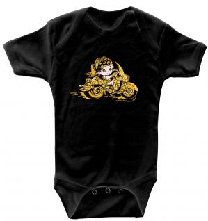 Babystrampler mit Print ? Baby-Biker ? 08356 schwarz - 6-12 Monate
