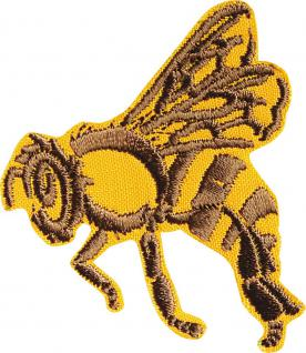 AUFNÄHER - Hummel Bee Wespe Biene - 00770 - Gr. ca. 6 cm x 6 cm - Patches Stick Applikation Bügel-Emblem
