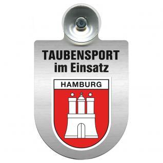 Einsatzschild Windschutzscheibe incl. Saugnapf -Taubensport im Einsatz - 309363-15 - Region Hamburg