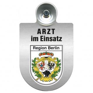 Einsatzschild Windschutzscheibe incl. Saugnapf - Arzt im Einsatz - 309352 Region Berlin