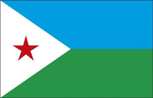 Stockländerfahne - Dschibuti - Gr. ca. 40x30cm - 77043 - Schwenkfahne Länder