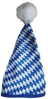 Zipfelmütze mit Bommel - 41663 Blau Weiß