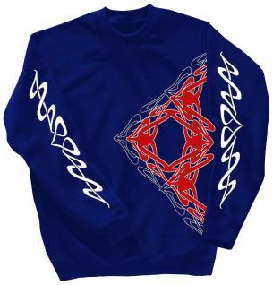 Sweatshirt mit Print - Tattoo - 10118 - versch. farben zur Wahl - Royal / XL