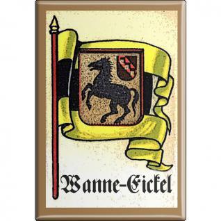 Kühlschrankmagnet - Wappen Wanne Eickel - Gr. ca. 8 x 5, 5 cm - 37551 - Magnet Küchenmagnet