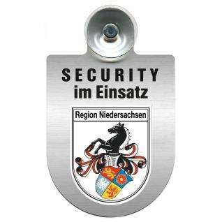 Einsatzschild Windschutzscheibe - Security im Einsatz - incl. Regionen nach Wahl - 309350 Region Niedersachsen