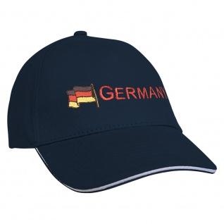 Baseballcap mit Einstickung Fahne Flagge Germany Deutschland 68130 Navy