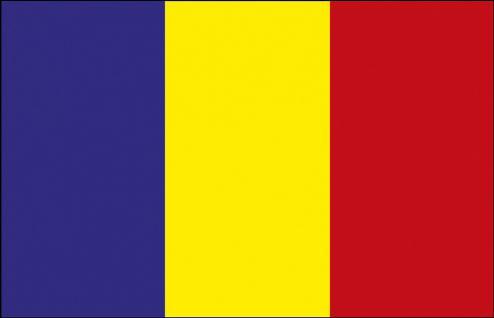 Schwenkfahne mit Holzstock - Rumänien - Gr. ca. 40x30cm - 77134 - Länderflagge, Hissfahne, Stockländerfahne