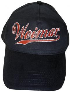 Baseballcap - Weimar-Kappi Stick - Weimar - 68142 schwarz - Cap Kappe Baumwollcap Baseball-Cap