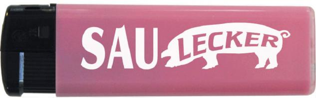 Einwegfeuerzeug - Saulecker - 30169 rosa
