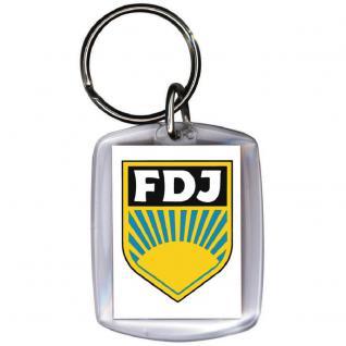 Schlüsselanhänger - DDR FDJ - Gr. ca. 6x4cm - 03382 - Vorschau 2
