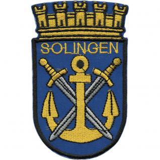 AUFNÄHER - Wappen - SOLINGEN - 00459 - Gr. ca. 5, 5 x 9 cm - Patches Stick Applikation