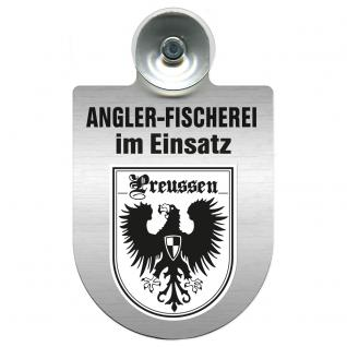 Einsatzschild Windschutzscheibe incl. Saugnapf - Angler-Fischerei im Einsatz - 309373-19 - Region Preussen