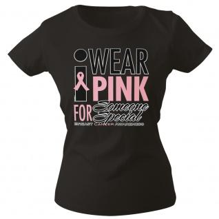 Girly-Shirt mit Print Wear Pink for Someone Special - G12167 Gr. schwarz / XS