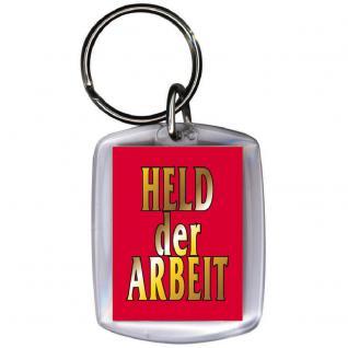 Schlüsselanhänger - HELD DER ARBEIT - Gr. ca. 6x4cm - 03381