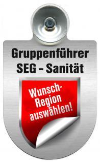 (309475) Einsatzschild Windschutzscheibe -Gruppenführer SEG Sanität - incl. Regionen nach Wahl