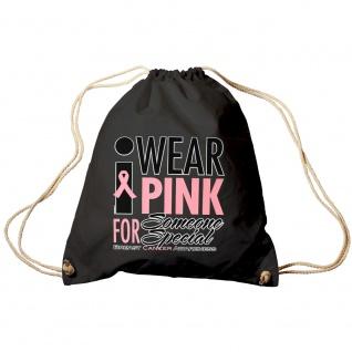 Sporttasche | Turnbeutel | Trend-Bag | Print | Wear Pink | TB12167 | schwarz