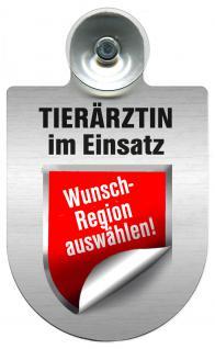 Einsatzschild für Windschutzscheibe incl. Saugnapf - Tierärztin im Einsatz - 309474