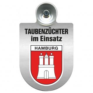 Einsatzschild Windschutzscheibe incl. Saugnapf - Taubenzüchter im Einsatz - 309385 Region Hamburg