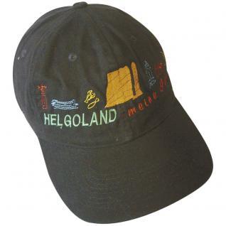BaseCap - Cappy mit vielfarbiger Bestickung - Insel Helgoland - 68874 schwarz - Baumwollcap Cap Baseballcap Schirmmütze - Vorschau