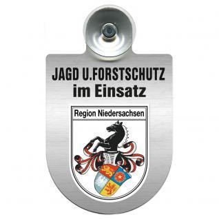 Einsatzschild für Windschutzscheibe incl. Saugnapf - Jagd + Forstschutz im Einsatz - 309729-7 Region Niedersachsen
