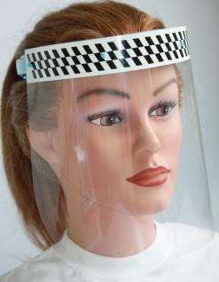 Klarsicht Gesichtschutz Gesichtsvisier aus Kunststoff mit Aufdruck - Zielflagge