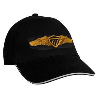 Baseballcap mit Einstickung Military Abzeichen - 68338 schwarz