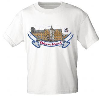 T-Shirt unisex mit Aufdruck - DÜSSELDORF - 09412 weiß - Gr. S