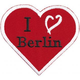AUFNÄHER - Berlin - 00039 - Gr. ca. 8cm x 8cm - Patches Stick Applikation