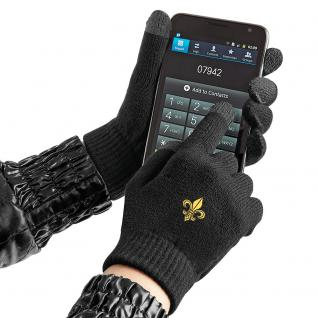 (31652)Touch Handschuhe mit Spezialeinsätzen an den Fingerkuppen in 8 Mitiv- Varianten S/M / Lilie