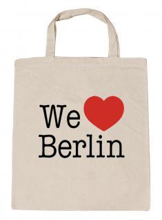 (10558-Tasche) Umweltfreundliche Baumwoll - Tasche , ca. 28 x 43 cm mit Aufdruck? Berlin?