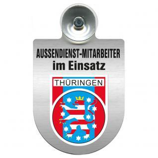 Einsatzschild Windschutzscheibe incl. Saugnapf - Außendienstmitarbeiter im Einsatz - 309366-13 - Region Thüringen